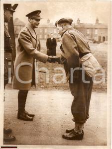 1940 WW2 H.M. King George VI at Newbury *Real Photo