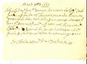 1639 AREZZO Ricevuta di Giulio BANUCCI per incasso semestre dovuto