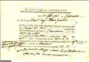1785 PIETRASANTA (LU) Domenico STAGI riscuote pensione