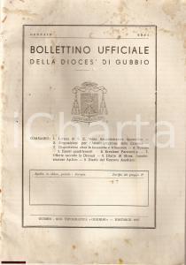 1967 GUBBIO (PG) Bollettino ufficiale della Diocesi Mortificazione in QUARESIMA