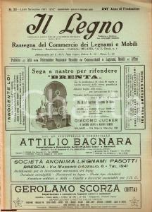 1937 MILANO Rivista IL LEGNO Rassegna Legnami e Mobili