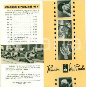 1960 ROMA Filmini SAN PAOLO Proiettori M K *Opuscolo pubblicitario
