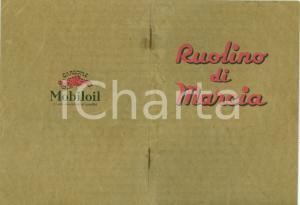 1934 GENOVA VACUUM OIL COMPANY Ruolino marcia FIAT ARDITA Gargoyle MOBILOIL