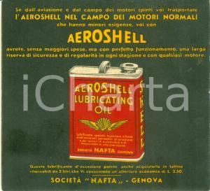 1932 GENOVA SOCIETA' NAFTA Lubrificante AEROSHELL per motori normali *OPUSCOLO