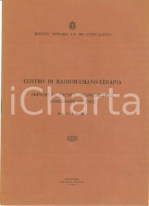 1930 MONTECATINI TERME (PT) Vincenzo PALUMBO Centro radium-emano-terapia ILLUST.