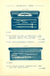 1910 NAPOLI Ditta RICHTER & CO. Scatole di compassi Opuscolo ILLUSTRATO