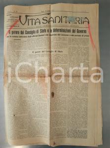 1913 VITA SANITARIA Consiglio di Stato su nomina ufficiali sanitari *Anno V n°25