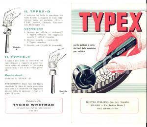 1950 ca MILANO Ditta KARTRO TYPEX pulitura macchine da scrivere *Pubblicitario