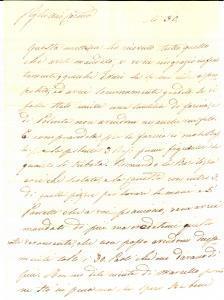 1840 ROMA Paolina CAMBI VOGLIA dispiaciuta per la mancanza della polenta