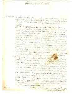 1834 FILOTTRANO (AN) Canonico Bernardo GHIRARDELLI sul chierico BELLAGAMBA