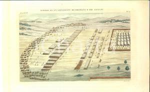 1830 ca COSTUME EUROPEO Accampamenti dei Germani e dei Romani *Inc. VERICO