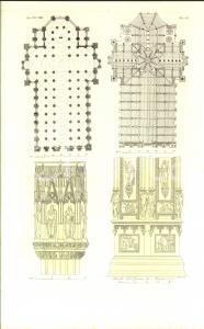 1830 ca FERRARIO COSTUME EUROPEO Pianta del Duomo di Milano *Stampa