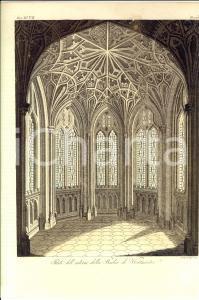 1830 ca COSTUME EUROPEO Interno della Badia di Westminster *Inc. GIARRE'