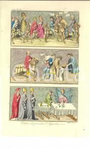 1830 ca COSTUME EUROPEO Elettori che precedono l'Imperatore *Inc. MIGLIAVACCA