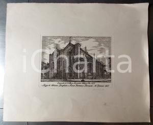 1987 MILANO Santa Maria Incoronata *Litografia firmata BIANCHI Nozze LONGHETTI