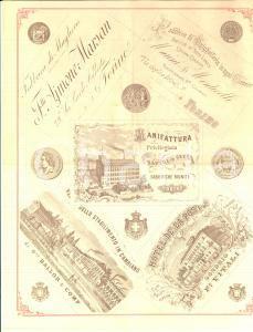 1880 TORINO Via LAGRANGE Stabilimento Cristiano MAURER litografie *Pubblicitario