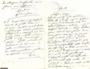 1895 MANFREDONIA (FG) Requisizione quadrupedi PALUMBO