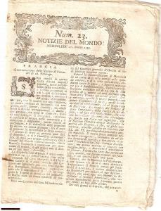 1793 NOTIZIE DEL MONDO Attruppamenti donne a PARIGI
