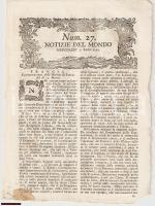 1793 NOTIZIE DEL MONDO Argenteria resa alle Chiese n.27