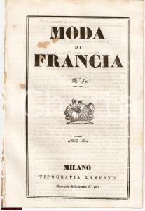 1832 MILANO L'ECO DEL FIGURINO - Moda di Francia N° 47