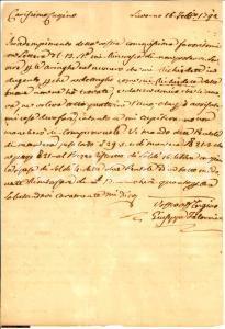 1792 LIVORNO Giuseppe FALORNI non trova aringhe a poco