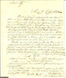 1834 AREZZO Antonio FALENI riscuote censi del padre