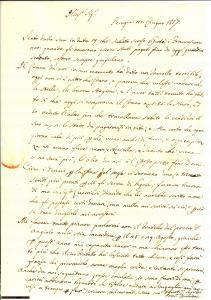 1817 PERUGIA Tracollo terribile dei prezzi del grano