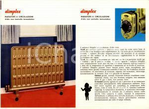 1960 ca DIMPLEX Radiatori elettrici Opuscolo ILLUSTRATO