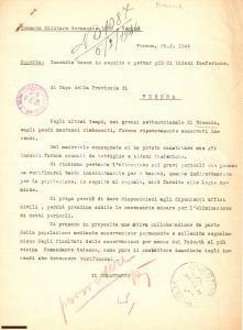 1944 WW2 RSI BRESCIA Segnali nemici incendiano boschi