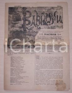 1888 Rivista BABILONIA Fastidiosi vagabondi a FIRENZE