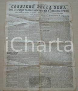 1918 CORRIERE DELLA SERA Annessione TRENTO TRIESTE