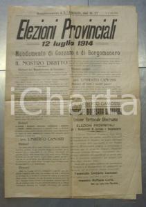 1914 GOZZANO NO Votate Umberto CAMOSSI alle provinciali