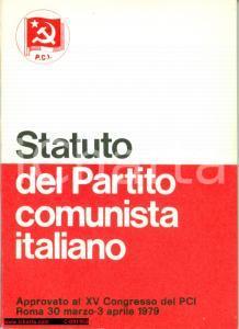 1979 PCI Statuto Partito Comunista Italiano
