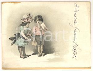 1900 circa Menù Dîner Mademoiselle Germaine TESSIOT