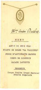 1930 circa Menù per il pranzo M.me André DURBEC