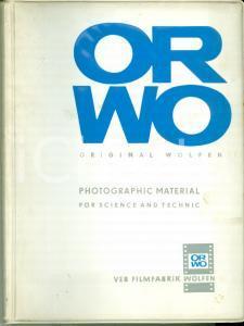 1975 DDR ORWO Catalogo ORIGINAL WOLFEN 110 pp.