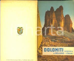 1960 circa BELLUNO Turismo itinerari stradali DOLOMITI