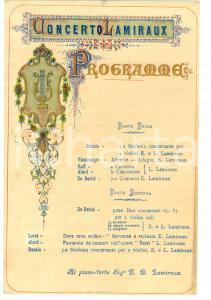 1880 TORINO Concerto della violinista Elena LAMIRAUX