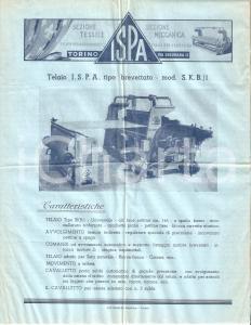 1950 ca TORINO Ditta I.S.P.A. Telaio brevettato mod. S. K. B. / 1 *Volantino