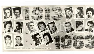 1963 ARENA DI VERONA Interpreti stagione cinquantenario
