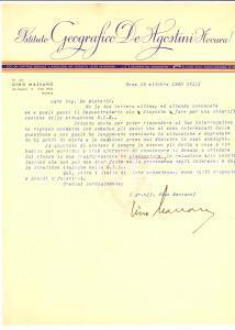 1940 ROMA Gino MASSANO si rivolge al Ministro Autografo