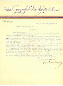 1940 ROMA Gino MASSANO su investitori esteri Autografo