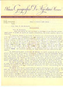 1940 ROMA Gino MASSANO e l'interesse pubblico Autografo