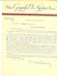 1940 ROMA Gino MASSANO trama con il ministro Autografo