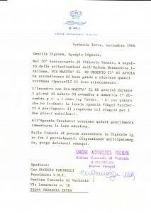 1968 UMI VERBANIA Eugenio FARINELLI incontra UMBERTO II