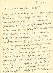1952 ROMA Giornalista Luciano PALOMBA vuole tornare al nord *AUTOGRAFO