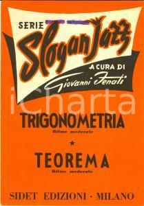 1956 Giovanni FENATI Trigonometria Teorema Slogan JAZZ *Spartito