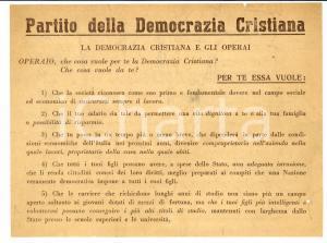 1950 La DEMOCRAZIA CRISTIANA e gli operai Volantino