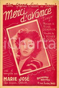 1947 René DENONCIN Roger DESBOIS Merci d'avance *Spartito