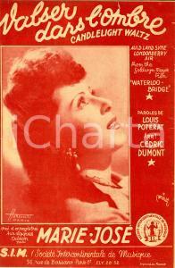 1946 Louis POTERAT Cedric DUMONT Valser dans l'ombre *Spartito